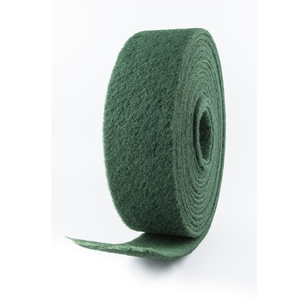 Rollo abrasivo fibra verde