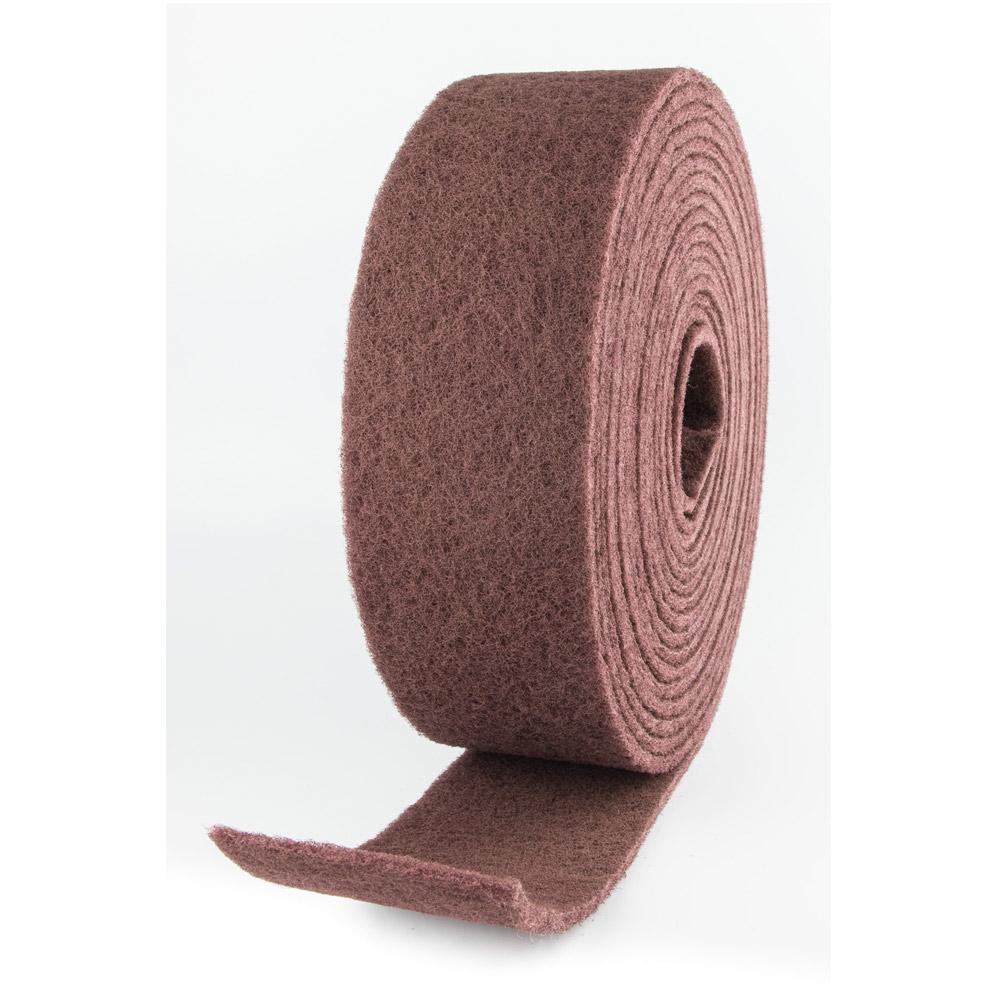 Rollo abrasivo de fibra rojo