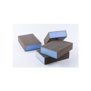 Taco abrasivo azul
