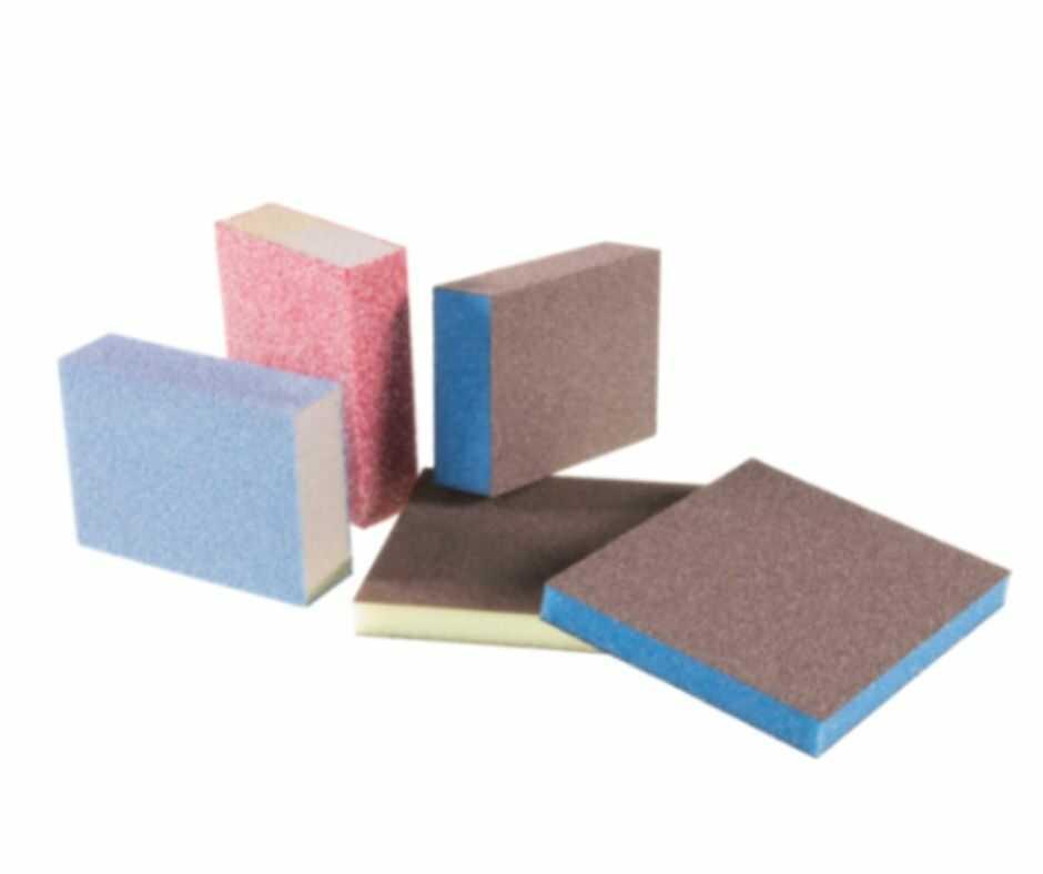 tacos de lija y esponjas abrasivas